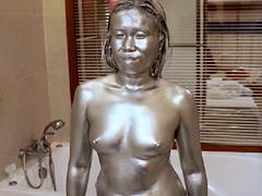タイで銀粉女に汚す動画